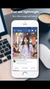 Online light facebook app - náhled