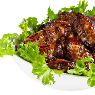 4. Crispy Baked Thai Chicken Wings with Peanut Sauce.
