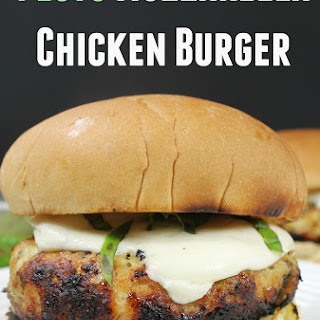 Pesto Mozzarella Chicken Burger
