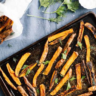 Sweet Potato Fries with Turmeric Tahini Dip