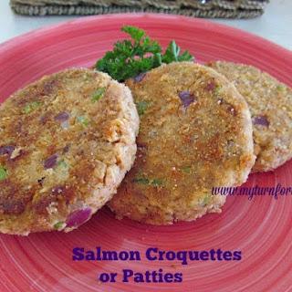 Salmon Croquettes/Patties.