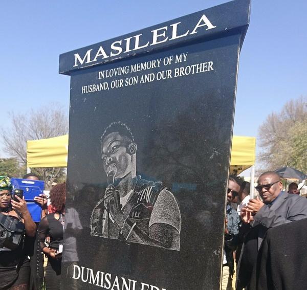 Dumi Masilela's 3-ton, Rotating Tombstone Cost R160k