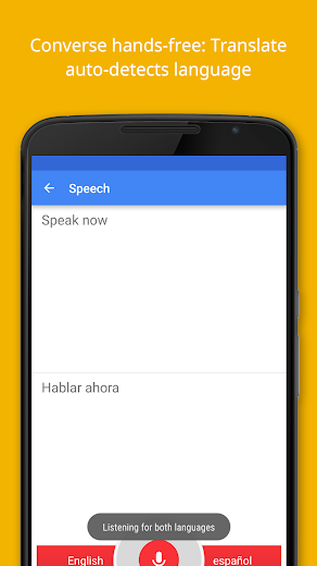 Screenshot 3 for Google Translate's Android app'