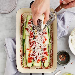 Zucchini Lasagna With Vegan Ricotta.