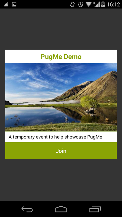 PugMe Events- screenshot