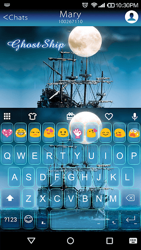 Ghost Ship Emoji Keyboard