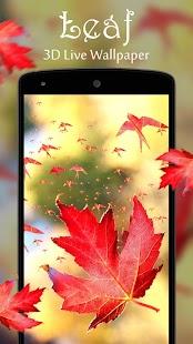 Leaf 3D Live Wallpaper - náhled