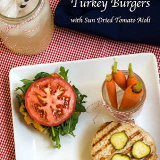 Quinoa Turkey Burgers with Sun Dried Tomato Aioli