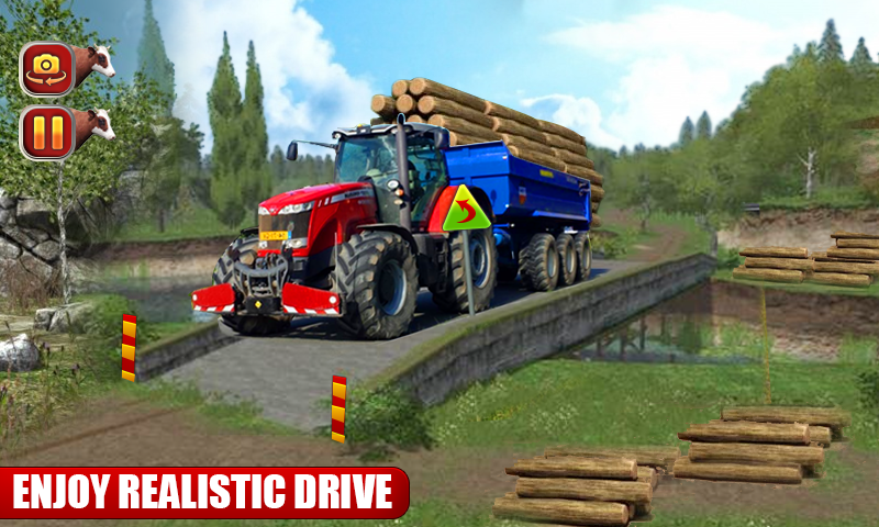 Heavy Duty Tractor Cargo Transporter 3D- screenshot