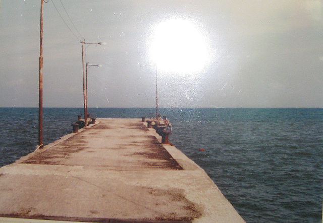 Photo: 「モンジベロ」の桟橋 ©赤松幸吉  ★画像使用記事 『太陽がいっぱい』 http://inagara.octsky.net/%E5%A4%AA%E9%99%BD%E3%81%8C%E3%81%84%E3%81%A3%E3%81%B1%E3%81%84