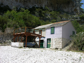 Photo: Only building on Svitnja beach, Vis Island