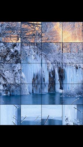 玩免費解謎APP 下載冬季瀑布拼图 app不用錢 硬是要APP