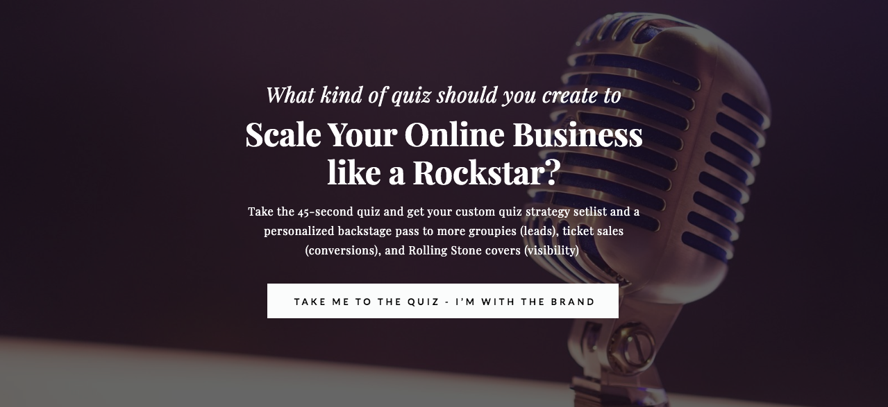 Quiz cover - What kind of quiz should you create to Scale your online business like a rockstar?