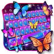 Swell Colorful Neon Butterfly Keyboard