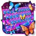 Swell Colorful Neon Butterfly Keyboard APK