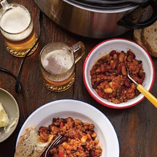 Three-Bean and Pork Chili.
