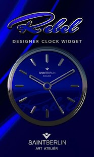 Blue Rebel HD Analog Clock Widget Screenshot