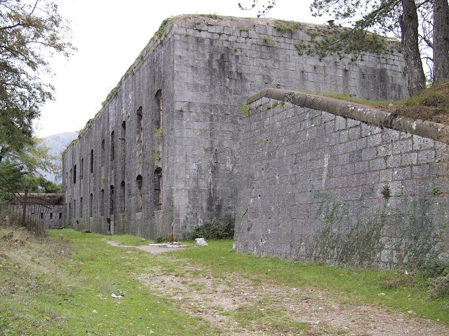 The exterior of the abandoned Fort Vrmac