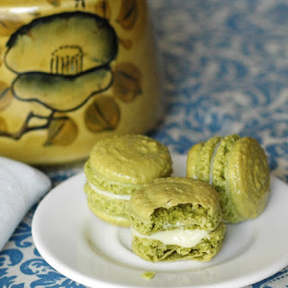 Matcha Green Tea Macarons with White Chocolate Ganache