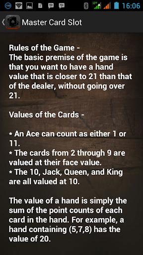 Master Card Slot