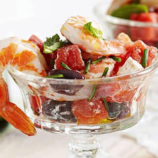 Watermelon Shrimp Salad.
