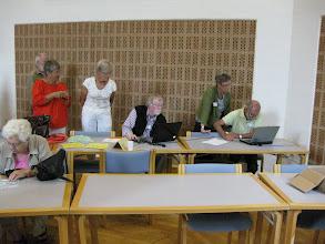 Photo: Træfpunkter i ottekanten, hvor der var orientering om forskellige tiltag - pilgrimsfællesskab i Nordjylland.