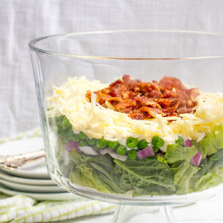 Healthier 7 Layer Salad.