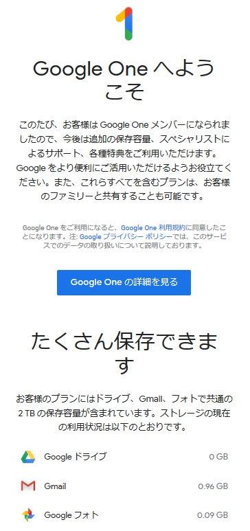 ローカルガイドの特典 2018 GoogleOne 1年間無料サービス
