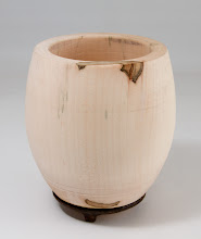 "Photo: Ed Karch 4 1/2"" x 6"" footed bowl [maple]"