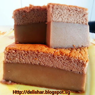 Milo Magic Custard Cake