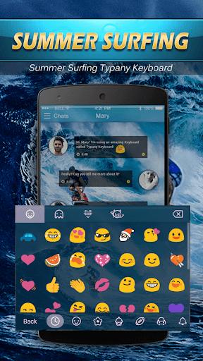 mod Hawaii Summer Surf Emoji Theme 2.5 screenshots 3