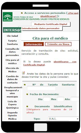 Cita medico SAS Andalucía