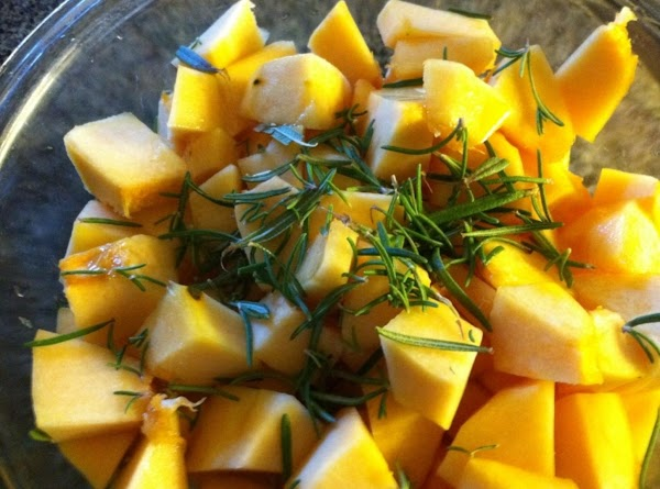 Preheat oven to 425F.  Peel and seed squash of choice.  Cube and...