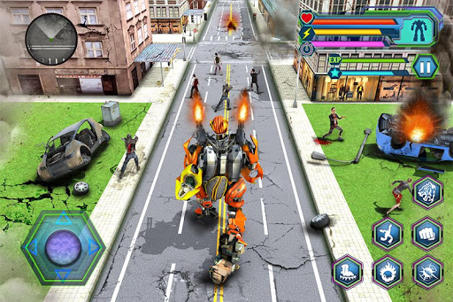 Futuristic Robot Tiger Real Robot Transformation filehippodl screenshot 3