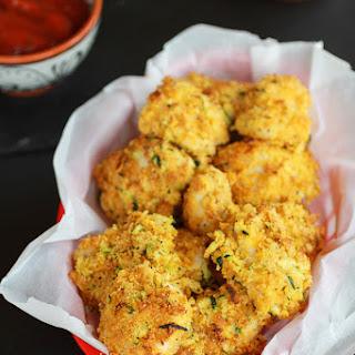 Skinny Zucchini Parmesan Chicken Nuggets