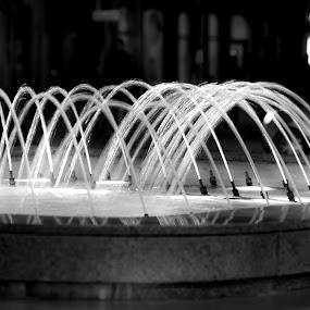 City fountain by Ivica Bajčić - City,  Street & Park  Fountains ( rijeka, b&w, fountain, croatia, visitcroatia, visitrijeka, city )