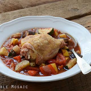 Paleo Roast Chicken Ratatouille.