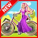Hill Biker Climbing : Girl Game icon