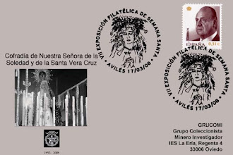 Photo: Matasellos de la VII Exposición filatélica de Semana Santa de Avilés dedicado a la Cofradía de Nuestra Señora de la Soledad y de la Vera Cruz, 2008