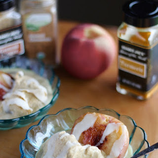 Grilled Peaches with Cinnamon Spice Ice Cream (AIP) Recipe