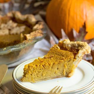 Bourbon Ginger Pumpkin Pie