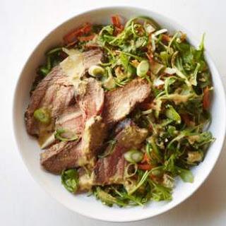 Grilled Flank Steak Salad with Ginger-Wasabi Dressing