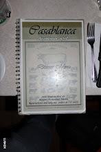 Photo: Menu del Restaurante Casablanca