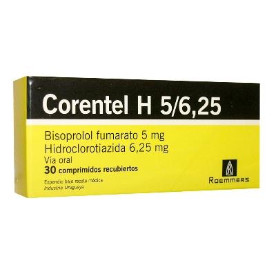 Bisoprolol + Hidroclorotiazida Corentel H 5/6,25 mg