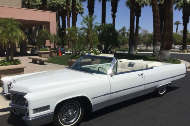 1966 Cadillac de Ville convertible Hire Palm Springs
