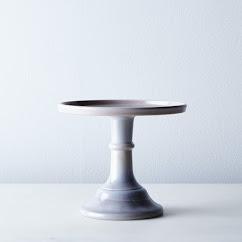 "Grey Swirl 6"" Cake Stand"