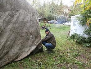 Photo: Zuhogó esőben állítottuk fel a sátrat