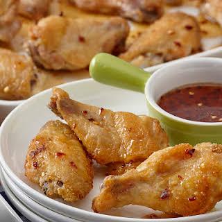 Crispy Dry Rub Chicken Wings.