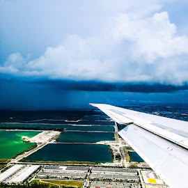 Miami from above by Amir Shahid - Landscapes Travel ( miami, plane, water, nice, landscape )