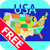 Map Solitaire Free - USA